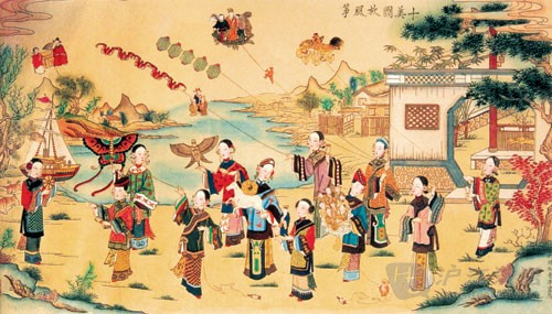 Image result for kite flying qingming