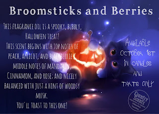 Broomstick and Berries scented candles