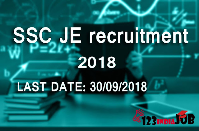 SSC JE recruitment 2018 for 1136 post