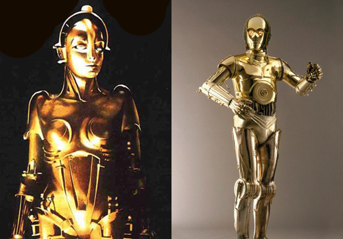 Maschinenmensch and C3PO design comparison