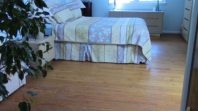 Cape Cod bedroom hardwood floor