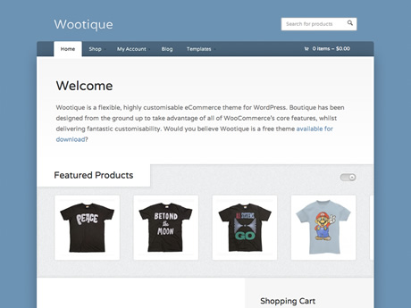 Wootique | Woo Themes : Free Wordpress Theme Download