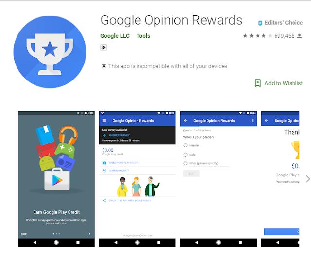 google opinion rewards display