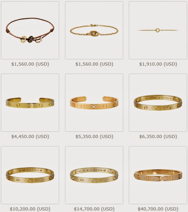 Cartier Love Bracelet Yellow Gold Prices