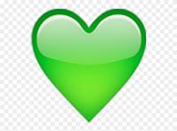 Coração Emoji Verde