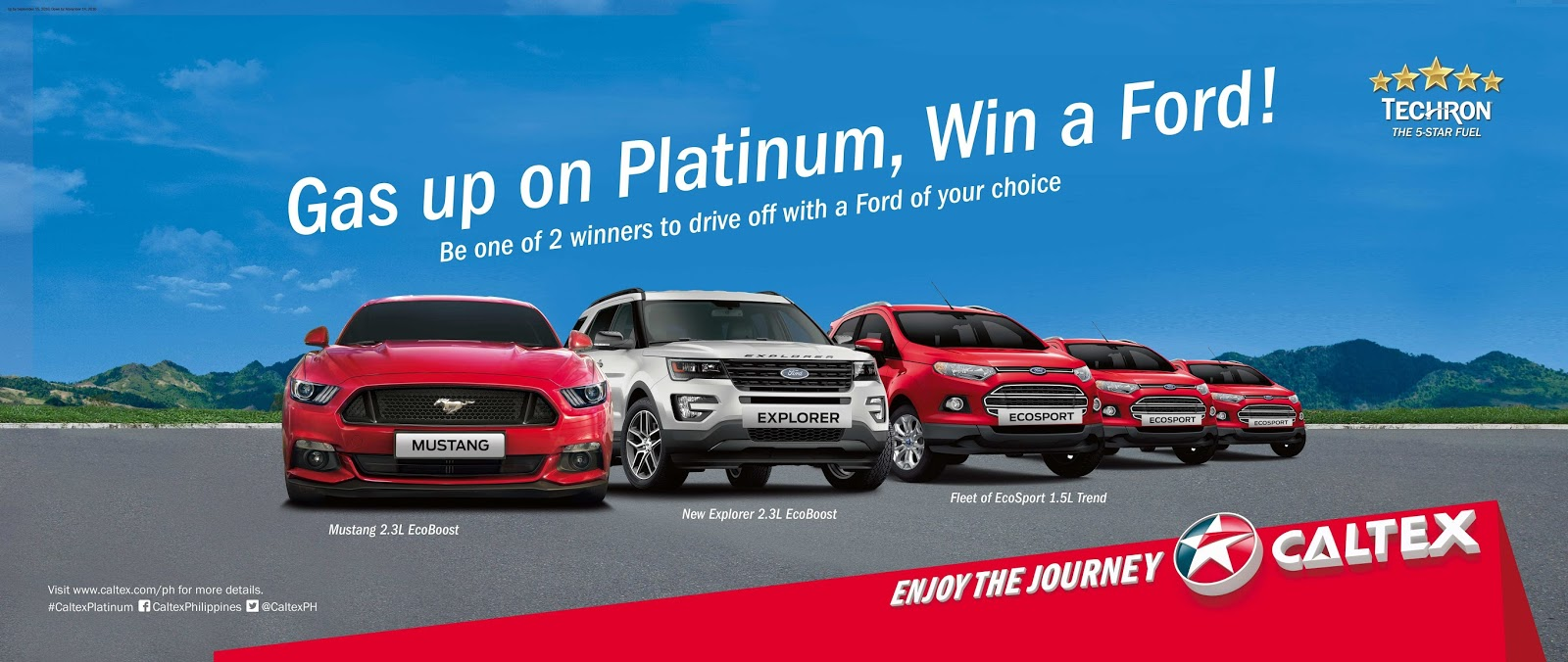Caltex's Gas Up On Platinum, Win a Ford!