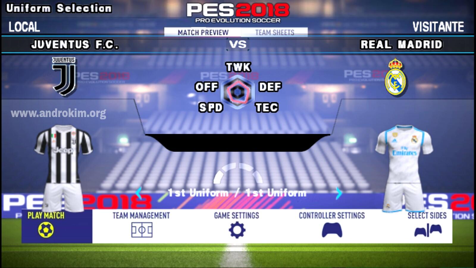 تحميل لعبة كرة قدم بيس Pes 2020 تعليق عربي للاندرويد أندروكيم