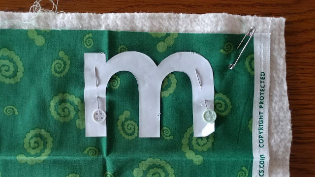 Quilted letters tutorial