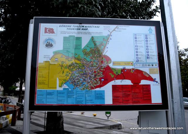 Goreme Tourism Map