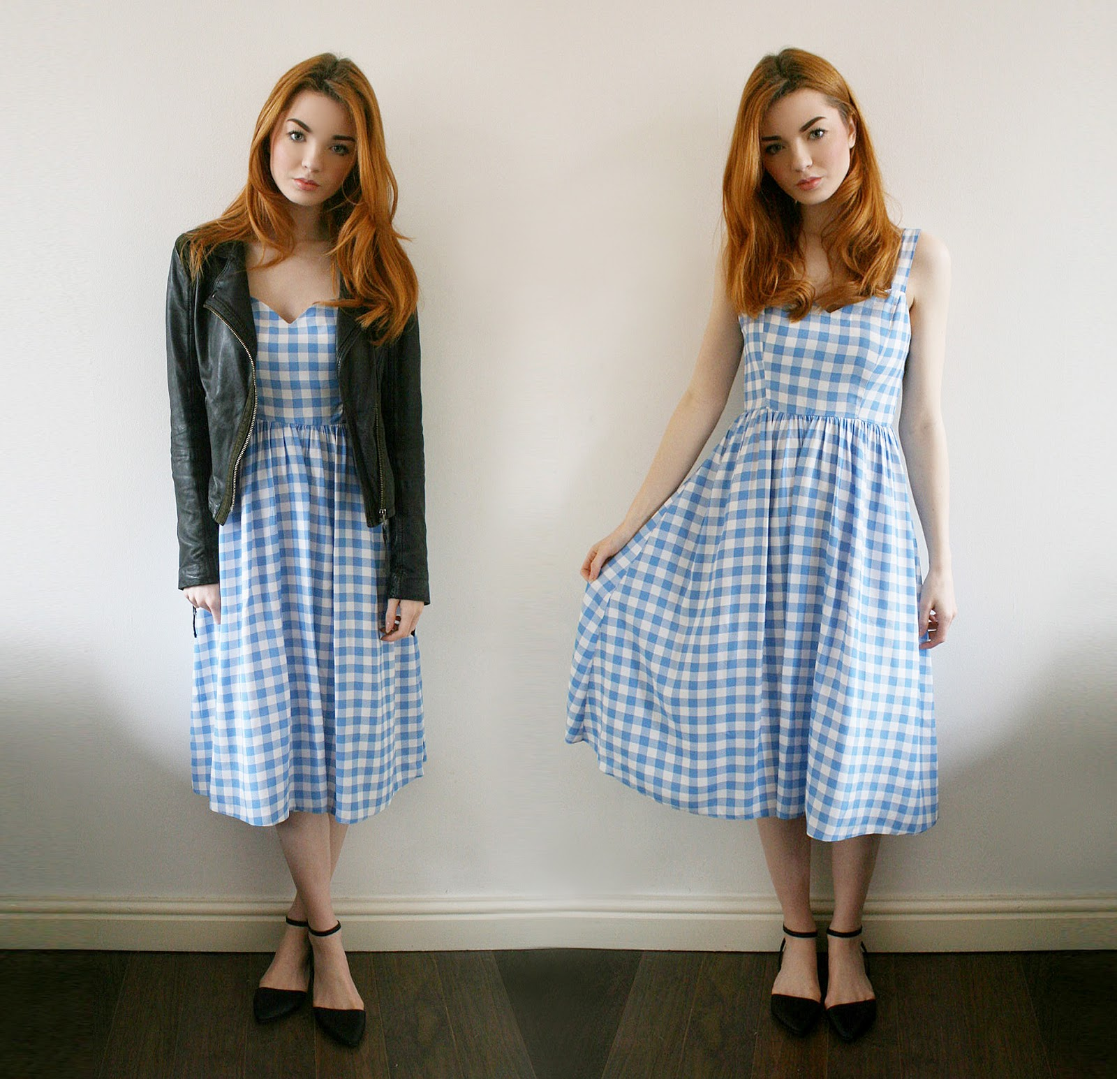 Blue Gingham Dress - Hannah Louise Fashion