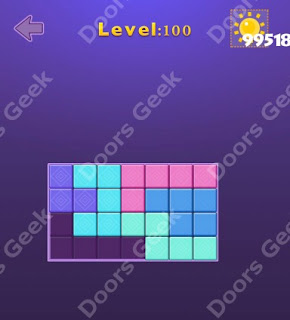Cheats, Solutions, Walkthrough for Move Blocks Easy Level 100