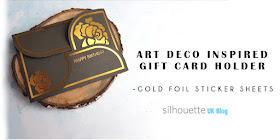photo regarding Silhouette Printable Gold Foil identified as Silhouette United kingdom: Artwork Deco Impressed Reward Card Holder - Gold