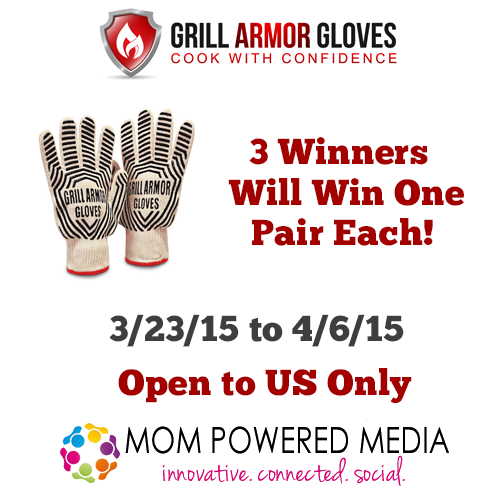 Enter the Grill Armor Gloves Giveaway. Ends 4/6