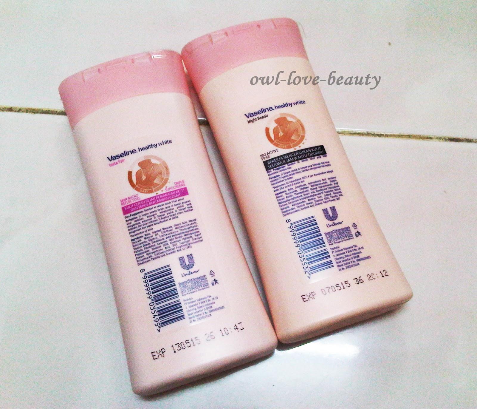 Senka White Beauty Lotion Ii Review: Owl-love-beauty: Review: Vaseline Healthy White