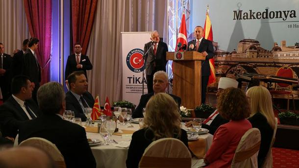 Turkish Minister of Foreign Affairs Cavusoglu is visiting Macedonia