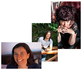 Ana Glez Duque, David Olier y Gabriella Campbell