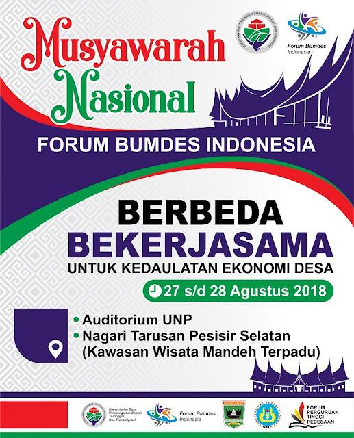 Musyawarah Nasional Forum Badan Usaha Milik Desa Indonesia 2018