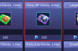 Kartu Double BP Mobile Legends
