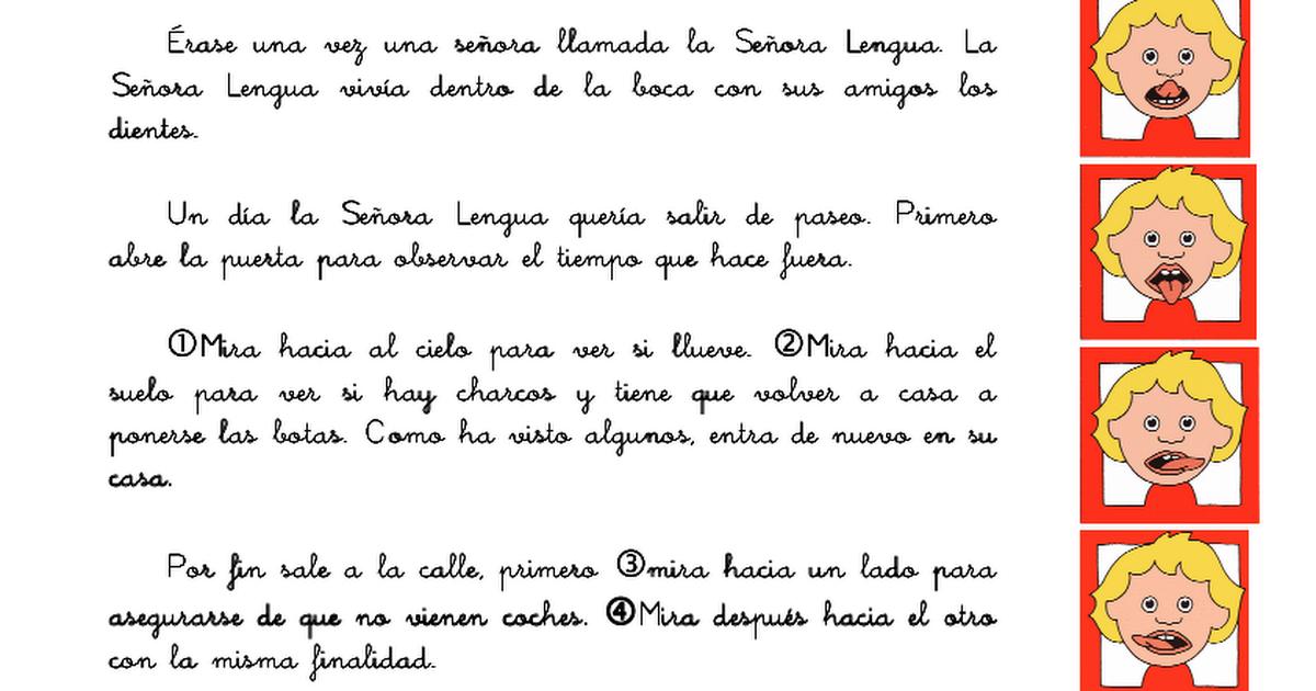 Escuela infantil castillo de Blanca: CUENTOS DE LA SEÑORA LENGUA