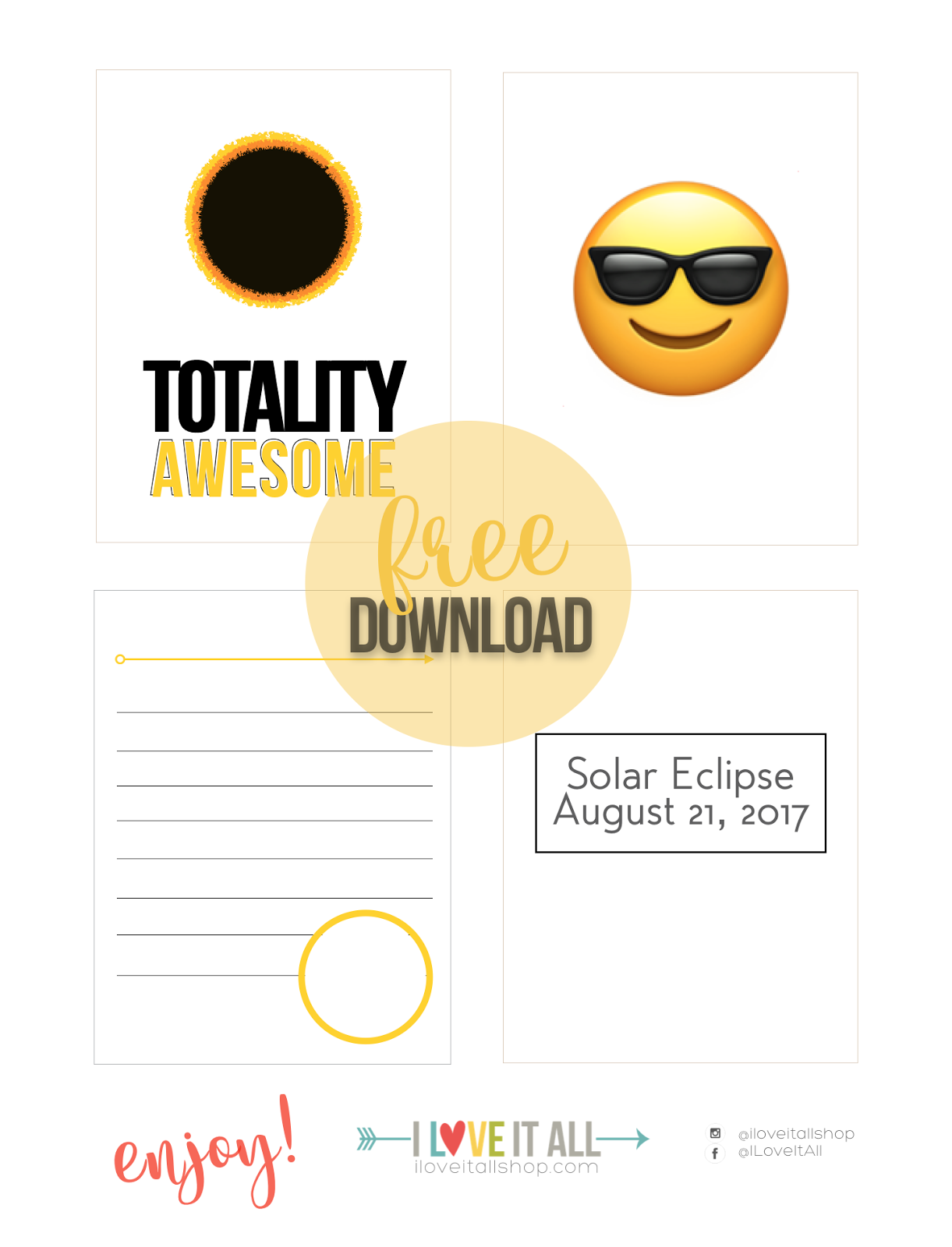 #solar eclipse #eclipse #journaling cards #project life