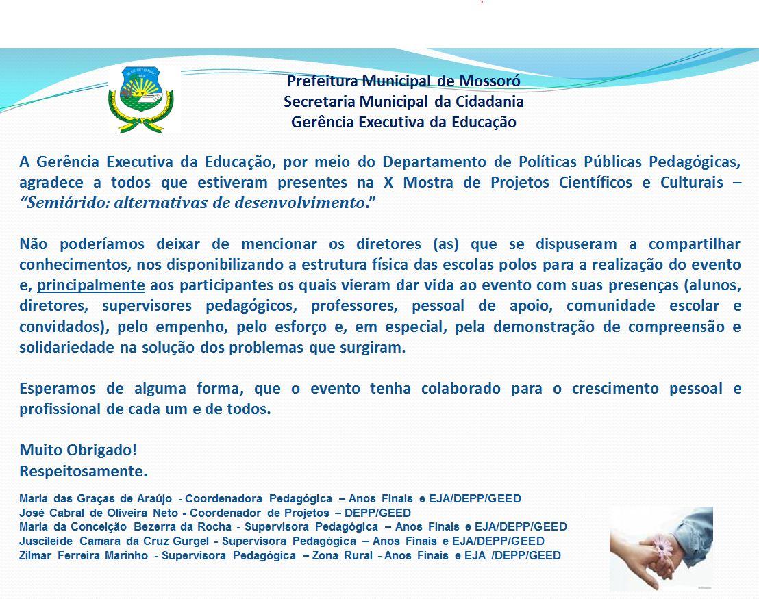 Blog Da Escola Municipal Genildo Miranda: Agradecimentos
