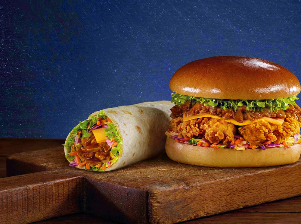 KFC Pulled Chicken Burger