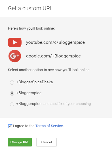get a custom URL