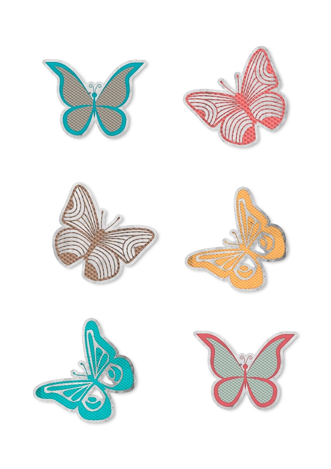 Mariposas imprimibles gratis para scrapbooking, manualidades ...