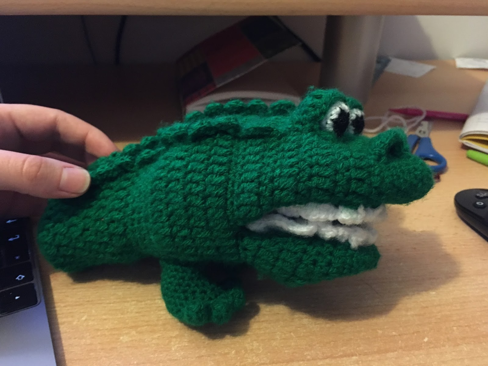 Crochet... Amigurumi : Crocodile Hand Puppet