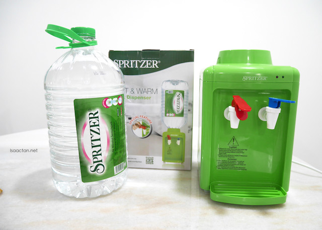 Spritzer Hot & Warm Mini Dispenser with the Bigger Pack