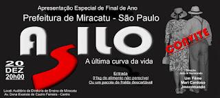 """Programação de final de ano em Miracatu dia 20/12 tem apresentação especial do filme: """"ASILO"""" A Última Curva da Vida"""""""