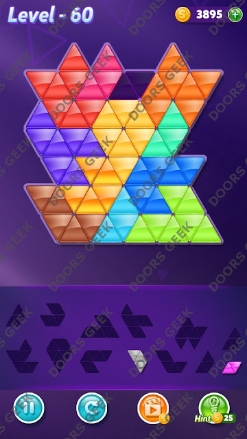 Block! Triangle Puzzle Grandmaster Level 60 Solution, Cheats, Walkthrough for Android, iPhone, iPad and iPod