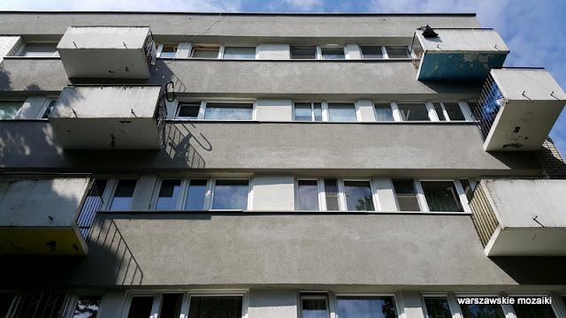 balkony Warszawa Warsaw Żoliborz osiedle Skibniewska sady bloki