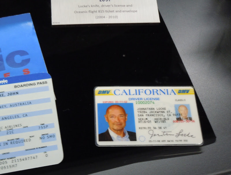 Locke ID card LOST prop