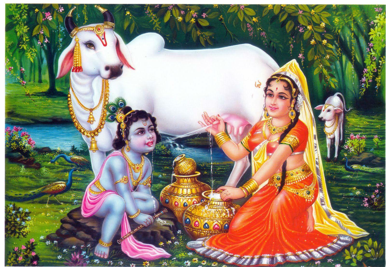 Ganesh Bhagwan Hd Wallpaper Picture Collection Krishna Yashoda Super Hd Wallpaper