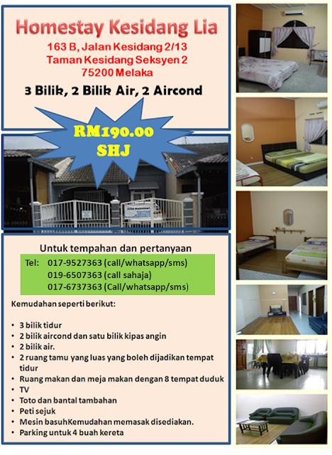 Homestay Kesidang Bandar Melaka