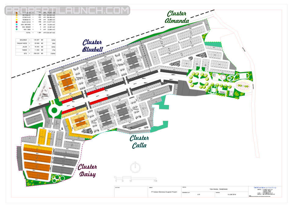 Site Plan Ayana Village Regency Tigaraksa