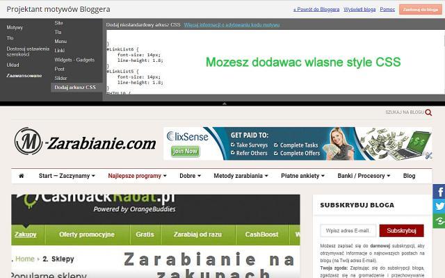 Blogger, blogspot, dodawanie kodu CSS.