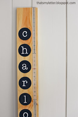 personalized single wood board growth chart