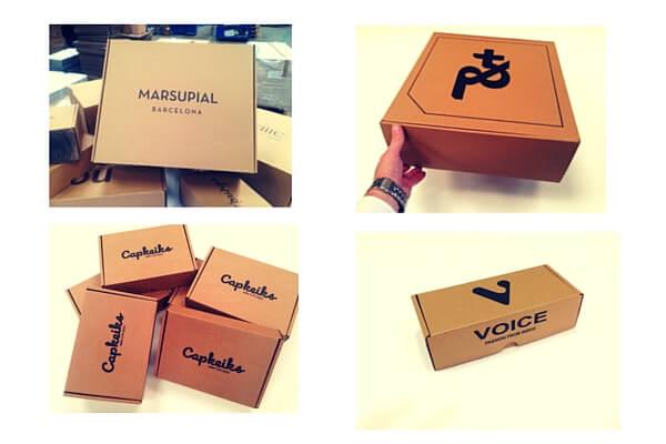 cajas de carton barcelona, varios modelos de cajas.