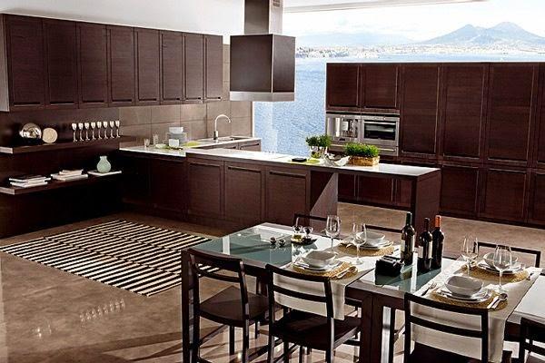 Espectaculares cocinas modernas color marrón - Colores en Casa