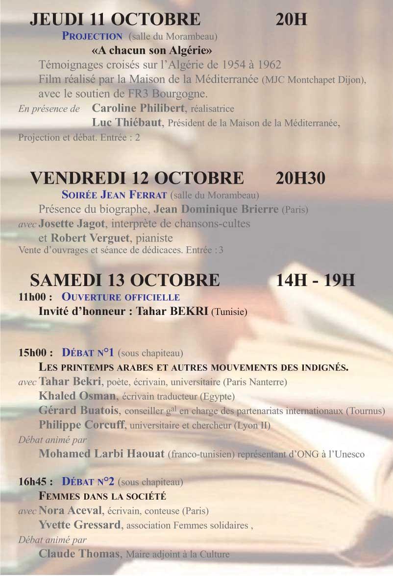 Centre Francophonie De Bourgogne Cfb Octobre 2012