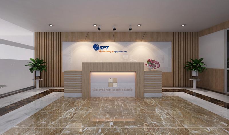 Thiết kế không gian lễ tân văn phòng tại Hà Nội