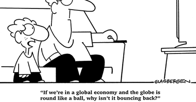 Economics Education: Global Economy Cartoon
