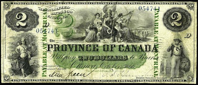 Canada 2 Dollar note bill
