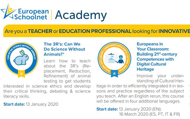 ONLINE KURSEVI  U ORGANIZACIJI EUROPEAN SCHOOLNET