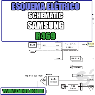 Esquema Elétrico Notebook Samsung R469 Laptop Manual de Serviço  Service Manual schematic Diagram Notebook Samsung R469 Laptop   Esquematico Notebook Placa Mãe Samsung R469 Laptop