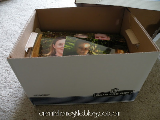 Office storage box to hold photos
