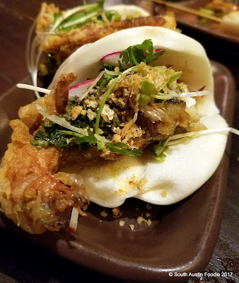 Kemuri soft shell crab bao