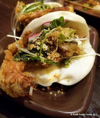 Kemuri soft shell crab bao